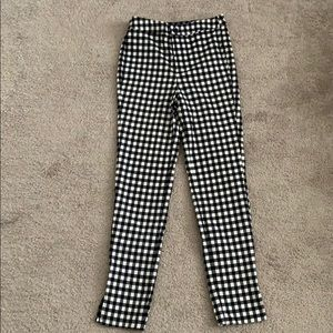 Black/White Checkered Pants